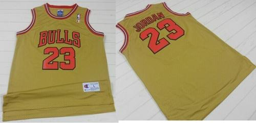 newest collection 7131c 7cda5 Bulls #23 Michael Jordan Gold 1997 Throwback Classic Stitched NBA Jersey