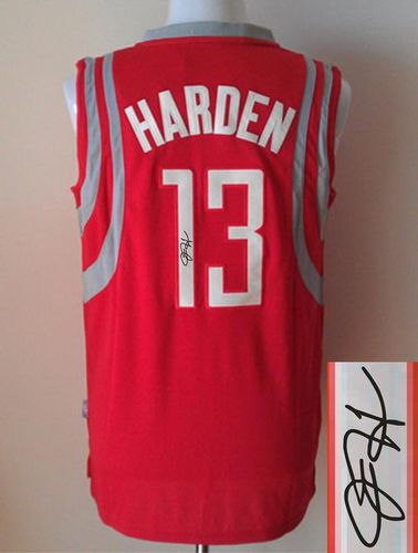 reputable site cec4e 894b4 Revolution 30 Autographed Rockets #13 James Harden Red Stitched NBA Jersey