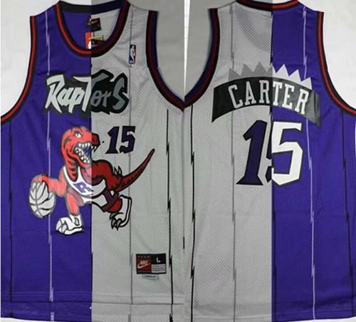 Toronto Raptors #15 Vince Carter Retro Mesh Basketball Jersey